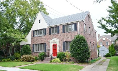 Norfolk Single Family Home For Sale: 1208 W Princess Anne Rd