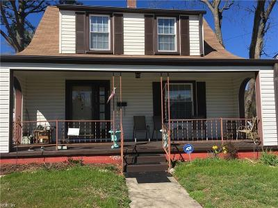 Newport News Single Family Home New Listing: 1411 26th St