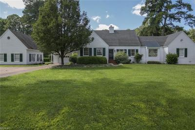 Portsmouth Single Family Home For Sale: 3804 Colony Rd