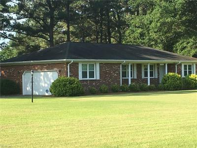 Isle of Wight County Single Family Home New Listing: 6184 Fire Tower Rd