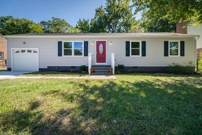 Newport News Single Family Home New Listing: 226 Saddler Dr