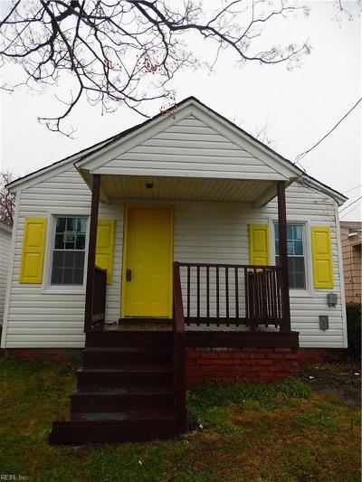 Newport News Single Family Home New Listing: 841 21st St