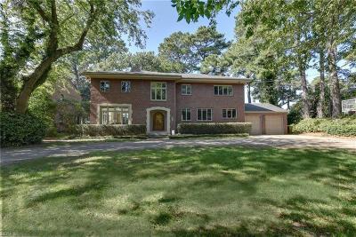 Norfolk Single Family Home For Sale: 7003 Mallard Dr