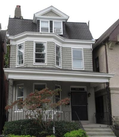 Norfolk Single Family Home For Sale: 515 Boissevain Ave