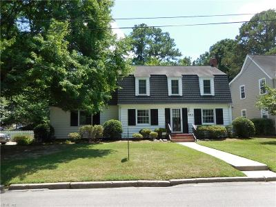 Norfolk Single Family Home For Sale: 1401 Buckingham Ave