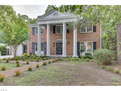 Norfolk Single Family Home For Sale: 7653 Gleneagles Rd
