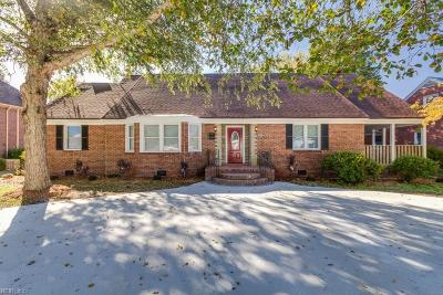 Portsmouth Single Family Home For Sale: 3729 Western Branch Blvd