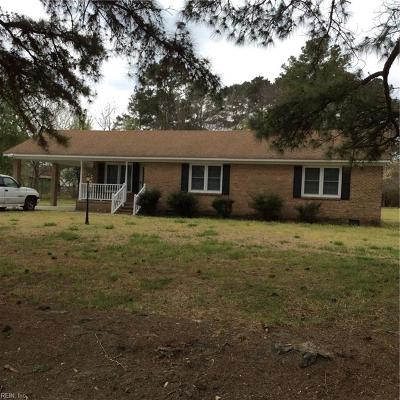 Isle of Wight County Single Family Home Under Contract: 1096 Johnson Cir