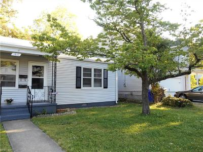 Norfolk VA Single Family Home For Sale: $210,000