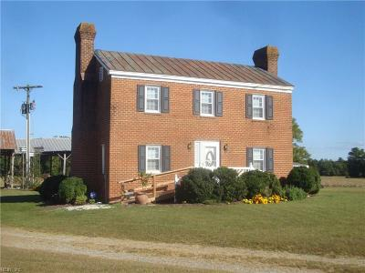 Isle of Wight County Single Family Home Under Contract: 29445 Walters Hwy