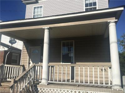 Norfolk Single Family Home For Sale: 432 W 26th St