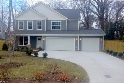 Virginia Beach Single Family Home For Sale: 4820 Lake Bradford Ln