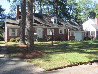 Suffolk Single Family Home For Sale: 507 Butler Ave