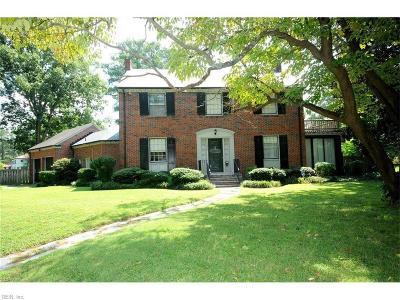 Norfolk Single Family Home For Sale: 1425 Runnymede Rd