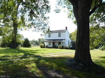 Isle of Wight County Single Family Home Under Contract: 10597 White House Rd