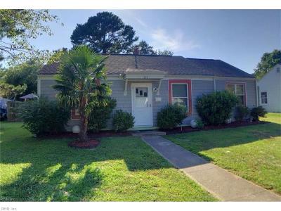 Virginia Beach VA Single Family Home New Listing: $139,900