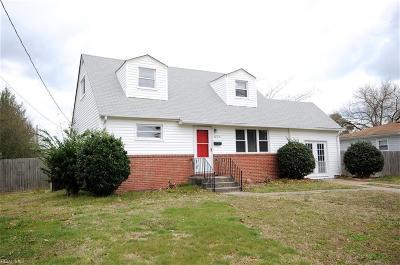 Virginia Beach VA Single Family Home New Listing: $197,900