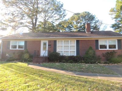 Newport News Single Family Home New Listing: 1027 Faubus Dr