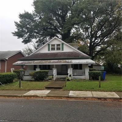 Newport News Single Family Home New Listing: 646 49th St