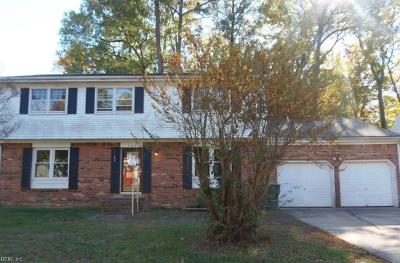 Newport News Single Family Home New Listing: 708 Galahad Dr