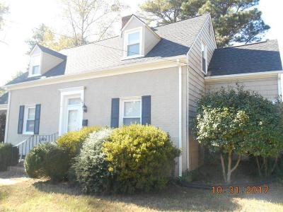 Suffolk Single Family Home For Sale: 301 Military Rd