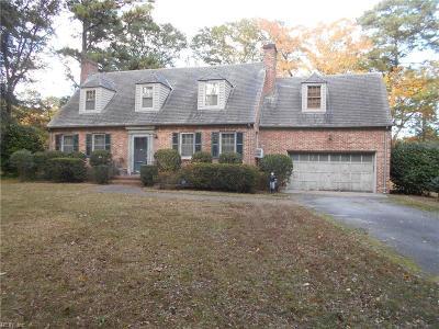 Norfolk Single Family Home For Sale: 6478 Kenlake Ct