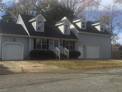 Norfolk Single Family Home New Listing: 8951 Old Ocean View Rd