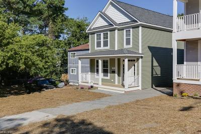 Norfolk Single Family Home For Sale: 9548 9th Bay St