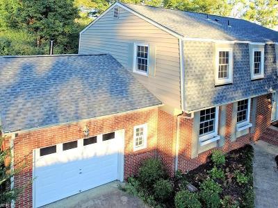 Virginia Beach Single Family Home New Listing: 1300 Willowood Ln