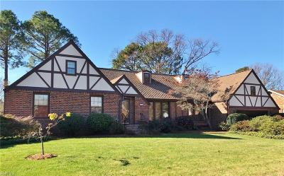 Virginia Beach Single Family Home New Listing: 1368 Marshall Ln
