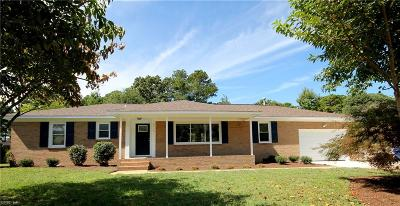 Chesapeake Single Family Home New Listing: 2712 Meadow Dr W