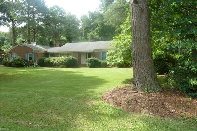 Portsmouth Single Family Home New Listing: 4712 River Shore Rd