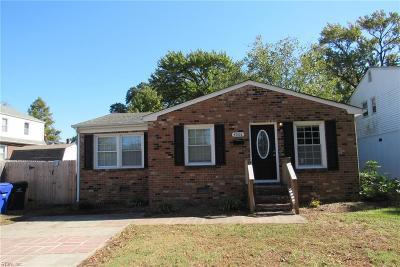 Norfolk Single Family Home New Listing: 4006 Mayflower Rd