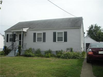 Norfolk Single Family Home New Listing: 1815 Broadfield Rd
