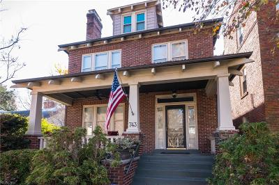 Norfolk Single Family Home Under Contract: 743 Maury Ave