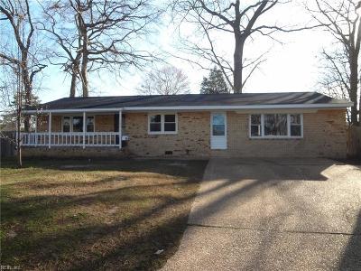Virginia Beach Single Family Home New Listing: 384 Dodge Dr
