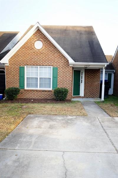 Chesapeake Single Family Home New Listing: 2807 Leeds Ct