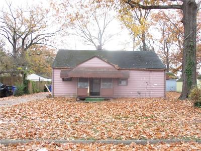 Norfolk Single Family Home New Listing: 4807 Winthrop St