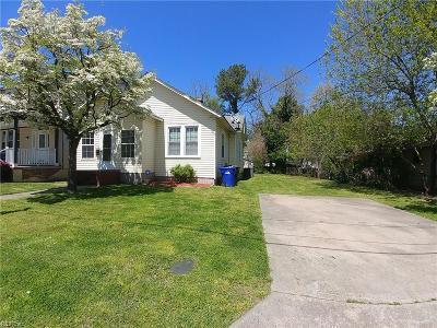 Portsmouth Single Family Home New Listing: 3608 County St