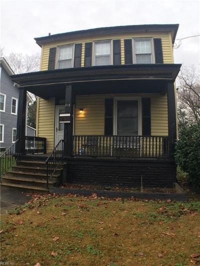 Portsmouth Single Family Home New Listing: 713 Potomac Ave