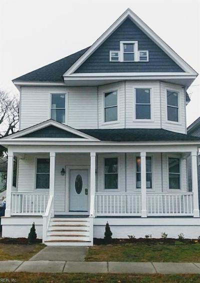 Norfolk Single Family Home New Listing: 220 W 28th St