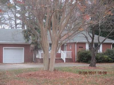 Norfolk Single Family Home Under Contract: 7648 Martone Rd