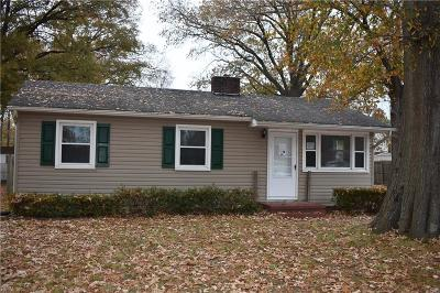 Chesapeake Single Family Home New Listing: 2635 Hemple St