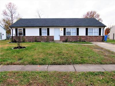 Chesapeake Single Family Home New Listing: 1120 Sir Galahad Dr