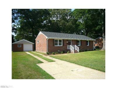 Hampton Single Family Home New Listing: 4010 Threechopt Rd