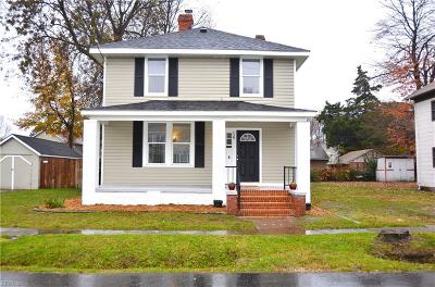 Hampton Single Family Home New Listing: 729 Pocahontas Pl