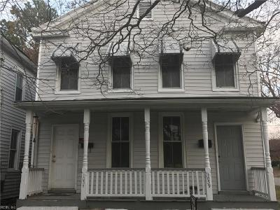 Chesapeake Single Family Home New Listing: 1037 Jackson Ave