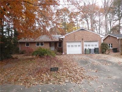 Hampton Single Family Home New Listing: 4704 Norris Ct