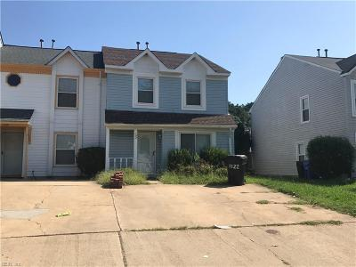 Virginia Beach Single Family Home New Listing: 1122 Hillock Xing