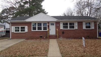 Norfolk Single Family Home For Sale: 3203 Kennebeck Cir